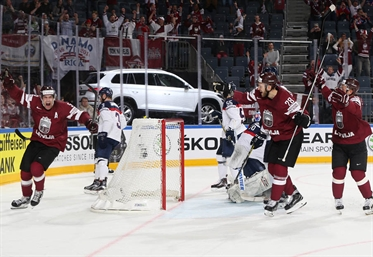 Latvia powers past Slovakia