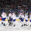 COLOGNE, GERMANY - MAY 10: Italy players get set to take on the U.S. during preliminary round action at the 2017 IIHF Ice Hockey World Championship. (Photo by Andre Ringuette/HHOF-IIHF Images)