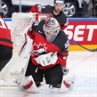COLOGNE, GERMANY - MAY 18: Canada's Calvin Pickard #31 makes the save during quarterfinal round action at the 2017 IIHF Ice Hockey World Championship. (Photo by Andre Ringuette/HHOF-IIHF Images)